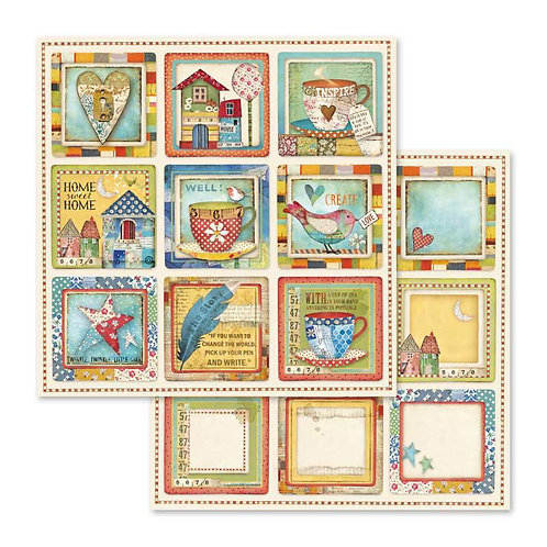 Stamperia-Patchwork Cards - 2 - 12x12 Single Sheets-Item #SBB572
