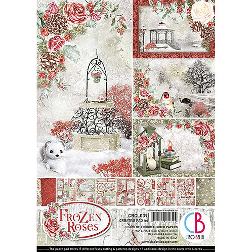 Frozen Roses by Ciao Bella-9 Double-Side Papers in the A4 Format