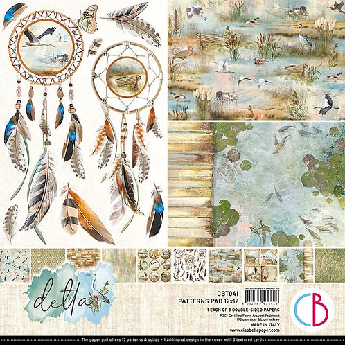 Delta by Ciao Bella-8-12x12 Double-Sided Papers