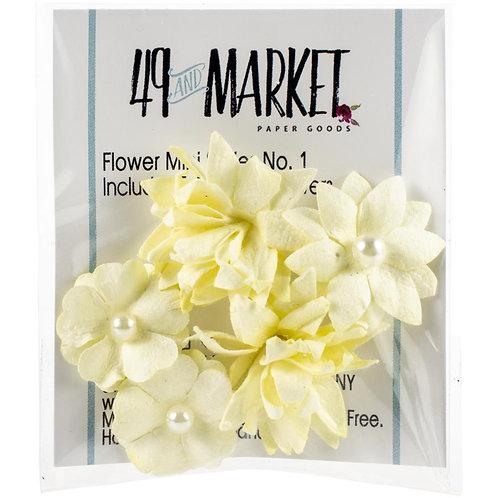 49 and Market-Mini Flower Series-Cream-Item #MS88336