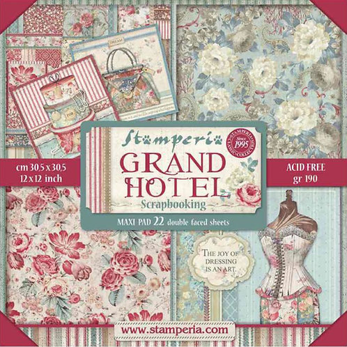 Grand Hotel by Stamperia - 12 x 12 Paper Pack - 22 Sheets - 44 Designs