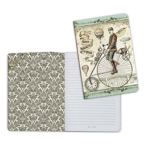 Voyages Fantastiques-Bicycle Notebook by Stamperia-6x8.25-Item #ENBA5004