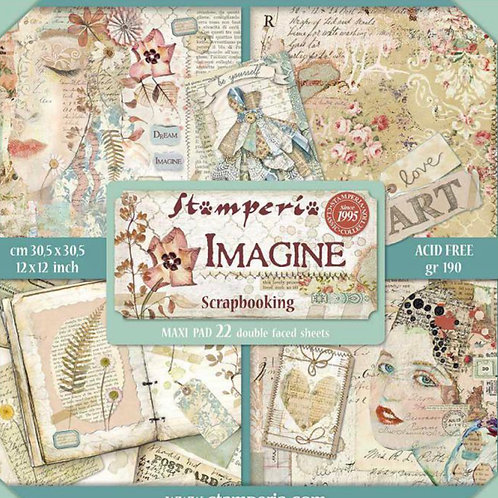 Imagine by Stamperia - 12 x 12 Paper Pack - 22 Sheets - 41 Designs