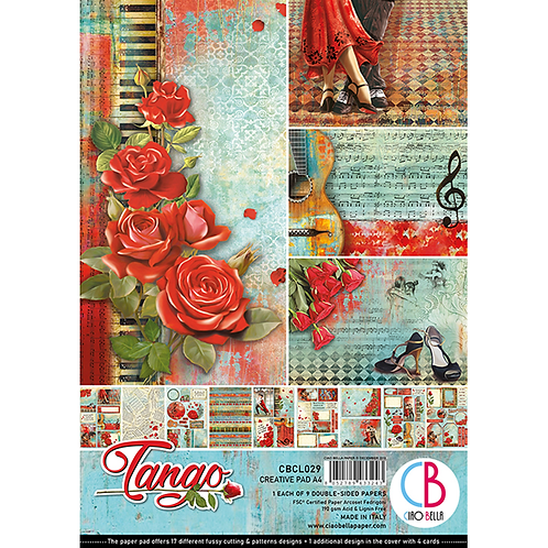 Tango by Ciao Bella-9 Double-Side Papers in the A4 Format-CBCL029