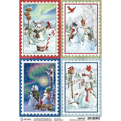 Northern Lights-Stamps - A4 Rice Paper by Ciao Bella