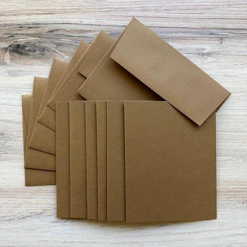 "Graphic 45-Cards & Envelopes-Kraft-Six 4.25"" x 5.5"" Cards & Envelopes #4501990"