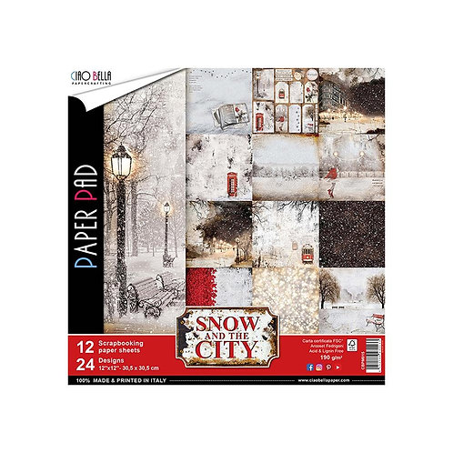 Snow And The City by Ciao Bella-12 Double-Sided 12x12 Sheets-CBPM015