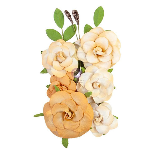 Prima - Diamond Collection - Love Wins - Mulberry Paper Flowers - 10 Pieces