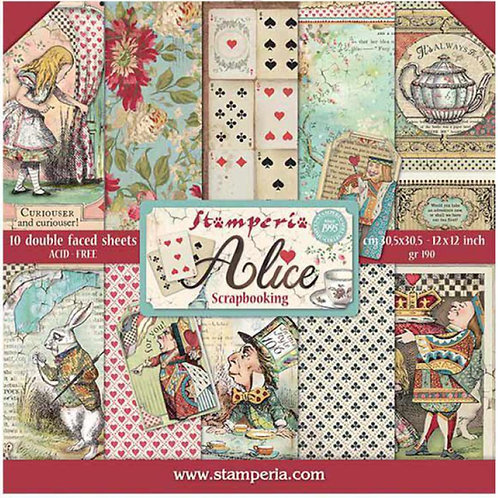 Alice by Stamperia - 10 - 12x12 Double-Sided Design Papers