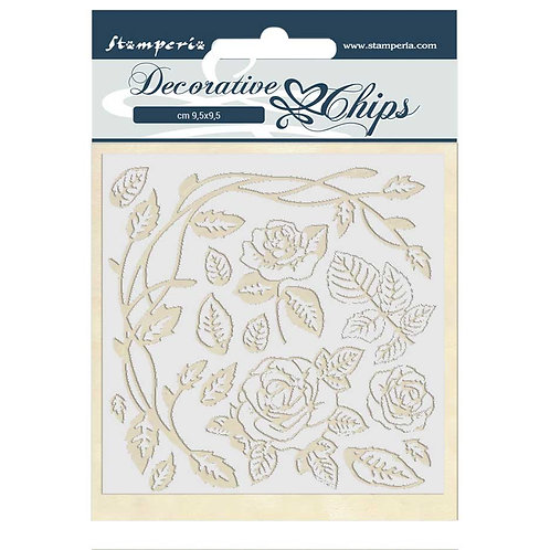 Stamperia - Decorative Chips - Passion - Roses