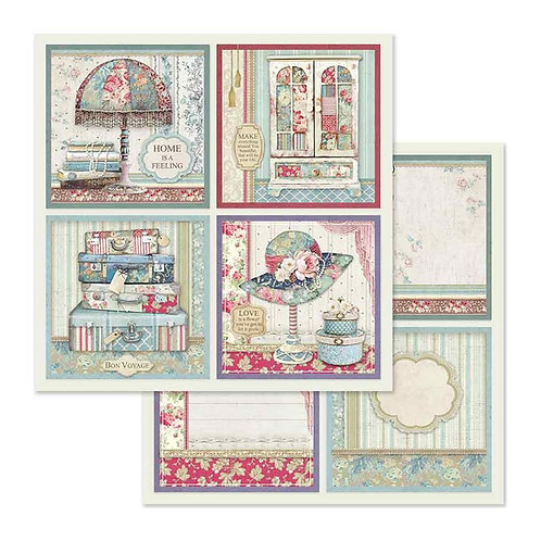 Grand Hotel-4 Frame Decorations by Stamperia-2-12x12 Sheets-Item #SBB629