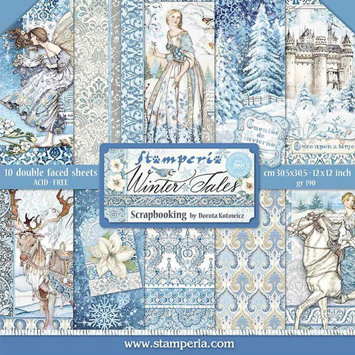Stamperia-Winter Tales 12x12 Paper Pad-10 Sheets - 22 Designs