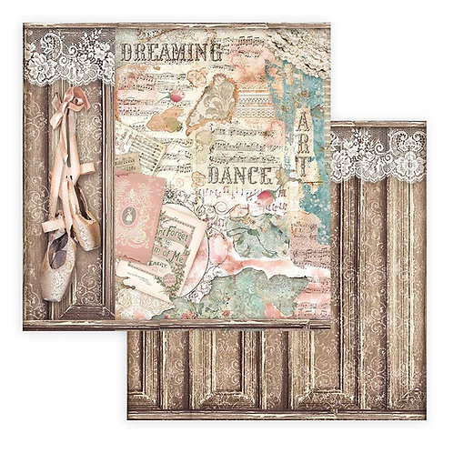 Stamperia - Passion - Ballet Shoes - 2 - 12x12 Single Sheets