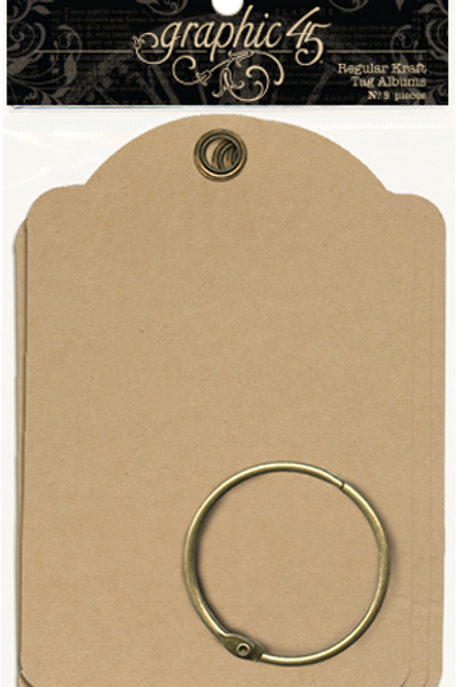 Graphic 45-Regular Tags—Kraft-Item #4501123