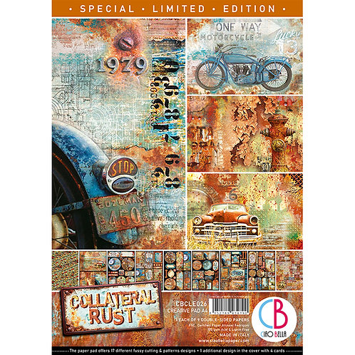 Collateral Rust Ltd Edition by Ciao Bella-9 Double-Side Papers in the A4 Format