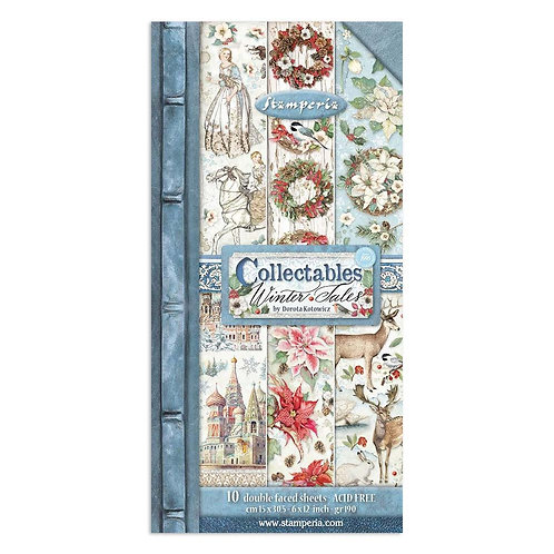 PRE ORDER Stamperia - Winter Tales - Christmas Elements - Collectible Sheets