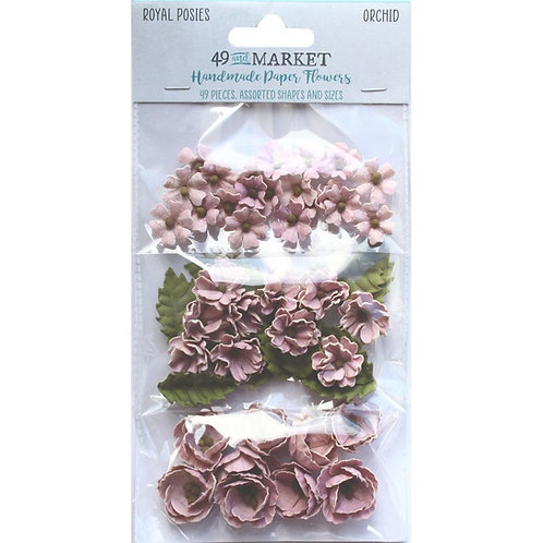 49 and Market - Royal Posies - Orchid - 49 Pieces