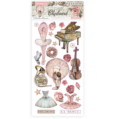 PRE ORDER - Stamperia - Passion - Decorations - Adhesive Chipboard