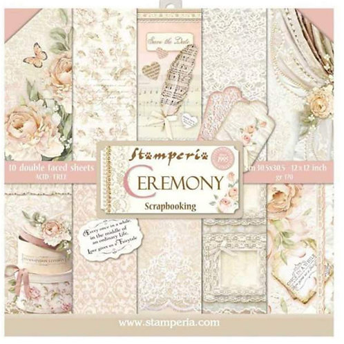 Ceremony by Stamperia - 12x12 Paper Pack