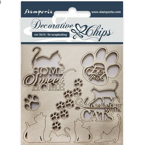 Stamperia-Decorative Chips-Cats