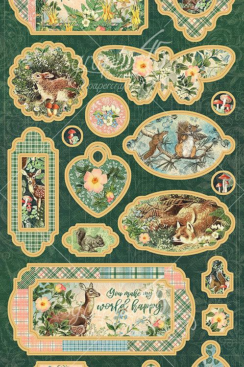 PREORDER Graphic 45-Woodland Friends-Decorative Chipboard