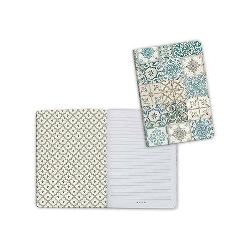 Azulejos-Tiles Notebook by Stamperia-4x5.75-Item #ENBA6009