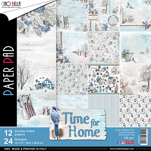 Time For Home by Ciao Bella-12-12x12 Double-Sided Papers-CBPM024