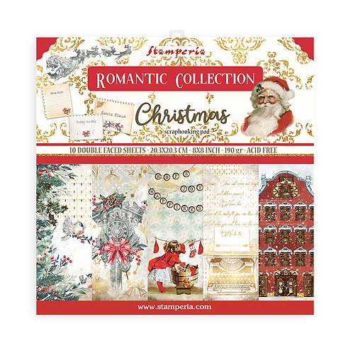 Stamperia - Romantic - Christmas - 10 - 8x8 Double Sided Papers