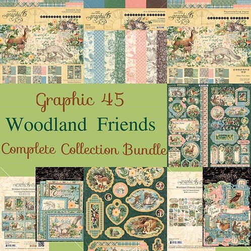 Graphic 45-Woodland Friends-Complete Collection Bundle