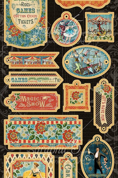 PRE ORDER Graphic 45 - Come One, Come All! - Decorative Chipboard