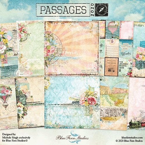 Blue Fern - Passages - 10 - 12x12 Double-Sided Design Papers (no cover)