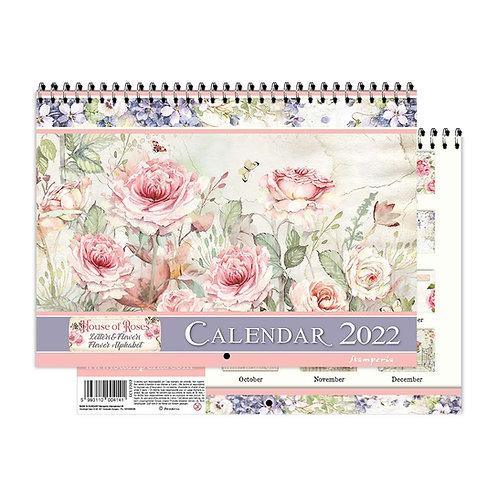 "PRE ORDER - Stamperia - House of Roses - 2022 Wirebound Calendar 11.75""X8.75"""