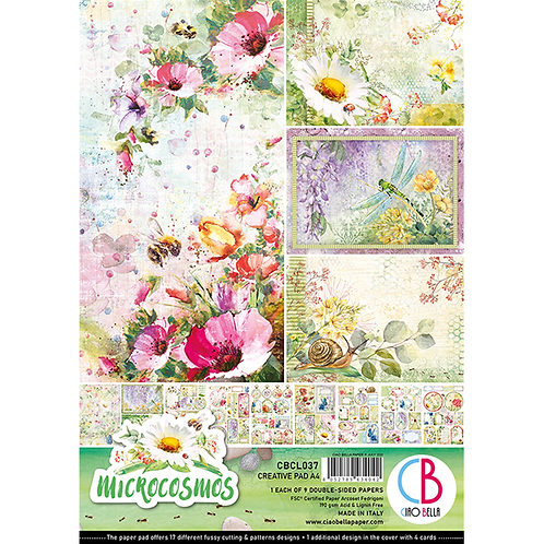 Microcosmos by Ciao Bella-9 Double-Side Papers in the A4 Format