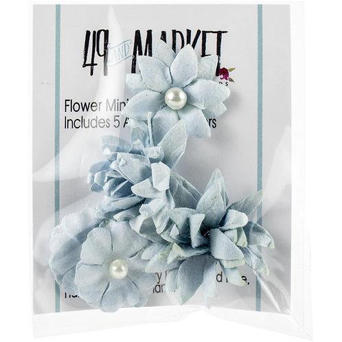 49 and Market-Mini Flower Series-Sky-Item #MS88381