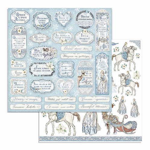 Stamperia - Winter Tales Tags - 2 - 12x12 Single Sheets