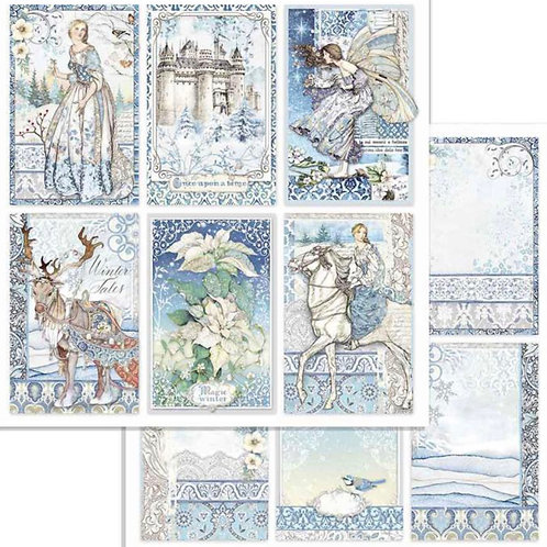 Stamperia - Winter Tales Cards - 2 - 12x12 Single Sheets