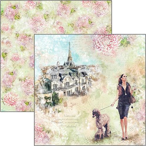 Ciao Bella - Notre Vie - Les Rues de Paris - 2 - 12x12 Single Sheets