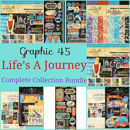 Graphic 45-Life's A Journey-Complete Collection Bundle