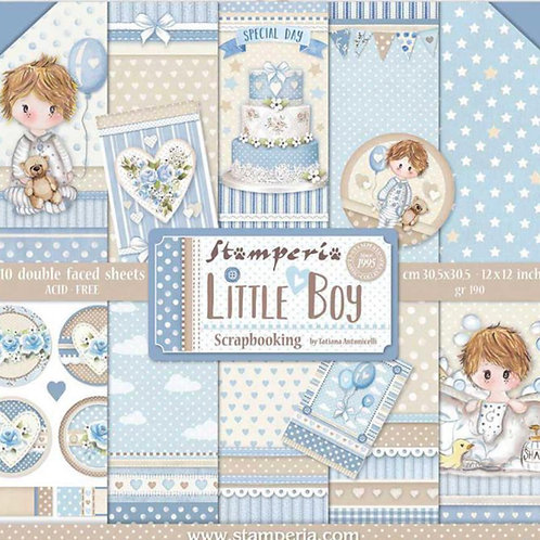 Little Boy by Stamperia - 12 x 12 Paper Pack - Item #SBBL68
