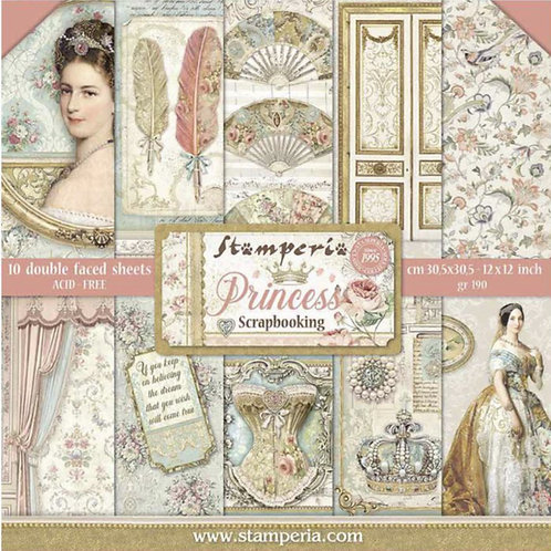 Stamperia - Princess - 12x12 Paper Pad - 10 Sheets - 22 Designs