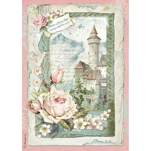 Castle Fantasy Rice Paper by Stamperia-Item #DFSA4347