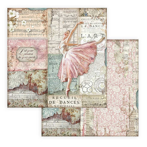 Stamperia - Passion - Dancer - 2 - 12x12 Single Sheets