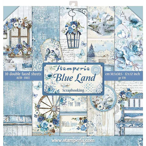 Blue Land by Stamperia - 12x12 Paper Pack