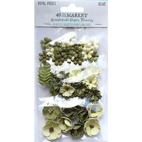 49 and Market - Royal Posies - Olive - 49 Pieces