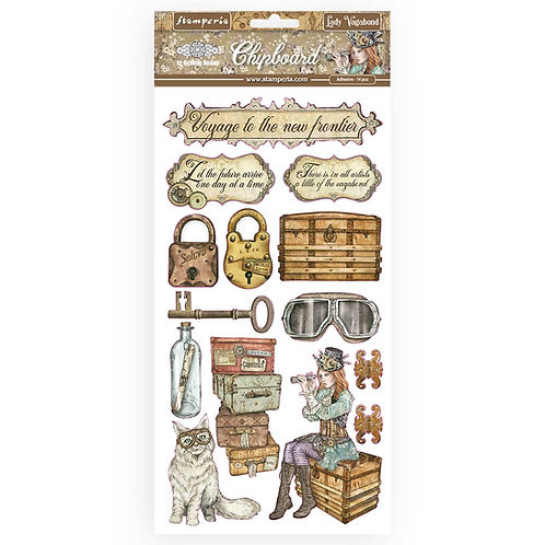 Stamperia - Lady Vagabond - Adhesive Chipboard