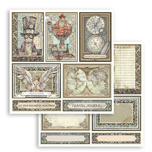 Stamperia-Sir Vagabond Cards - 2 - 12x12 Single Sheets