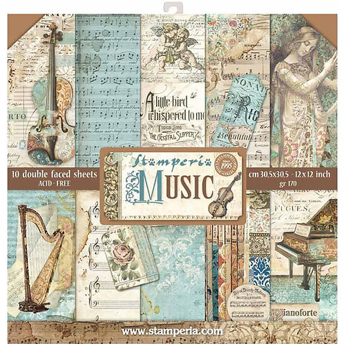 Music by Stamperia - 12x12 Paper Pack
