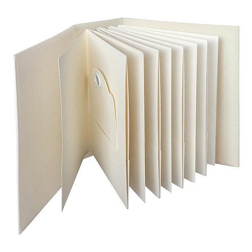 Graphic 45-ATC Tag & Pocket Album Ivory