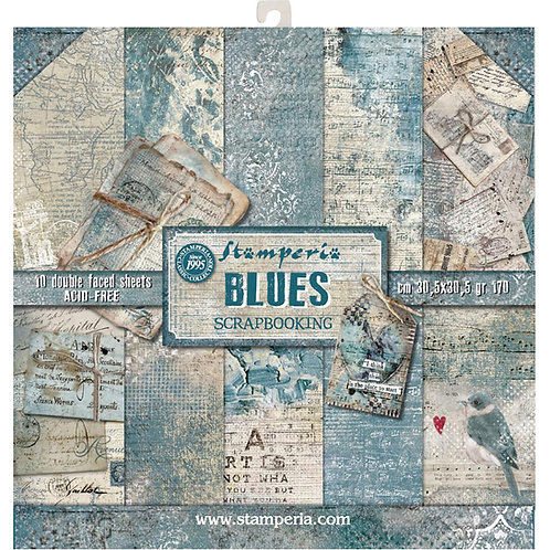 Blues by Stamperia - 12 x 12 Paper Pack