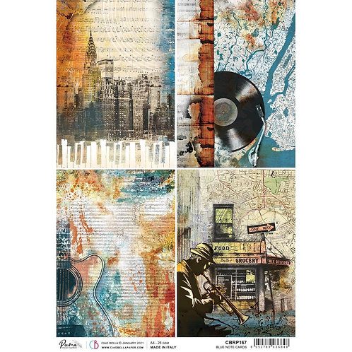 Blue Note - Cards - A4 Rice Paper by Ciao Bella